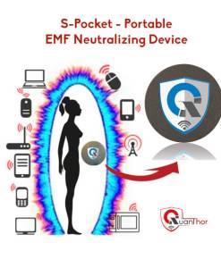 QUANTHOR Personal Device S-Pocket Portable EMF Radiation Shield