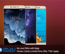 LeEco with Bajaj Finserve EMI card with zero interest