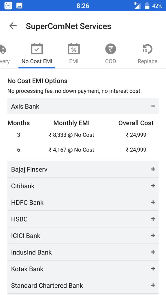 Moto Z Play EMI