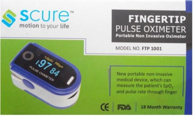 Scure FTP 1001 Pulse Oximeter(White, Blue)