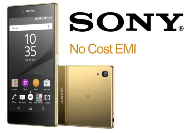 Sony Mobile No Cost EMI