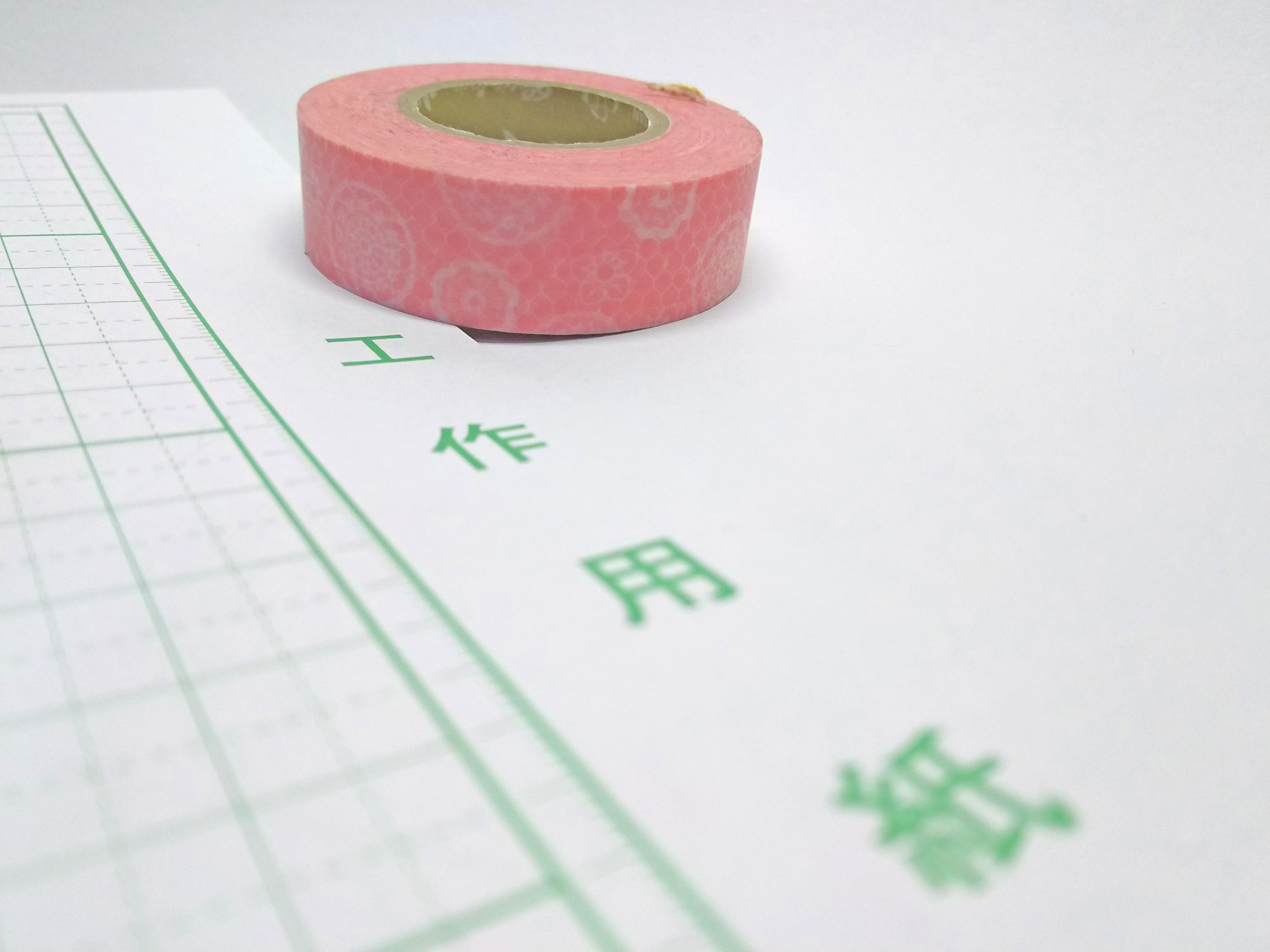 工作用紙とマスキングテープ