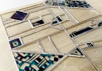 ステンドグラスパネルデザイン