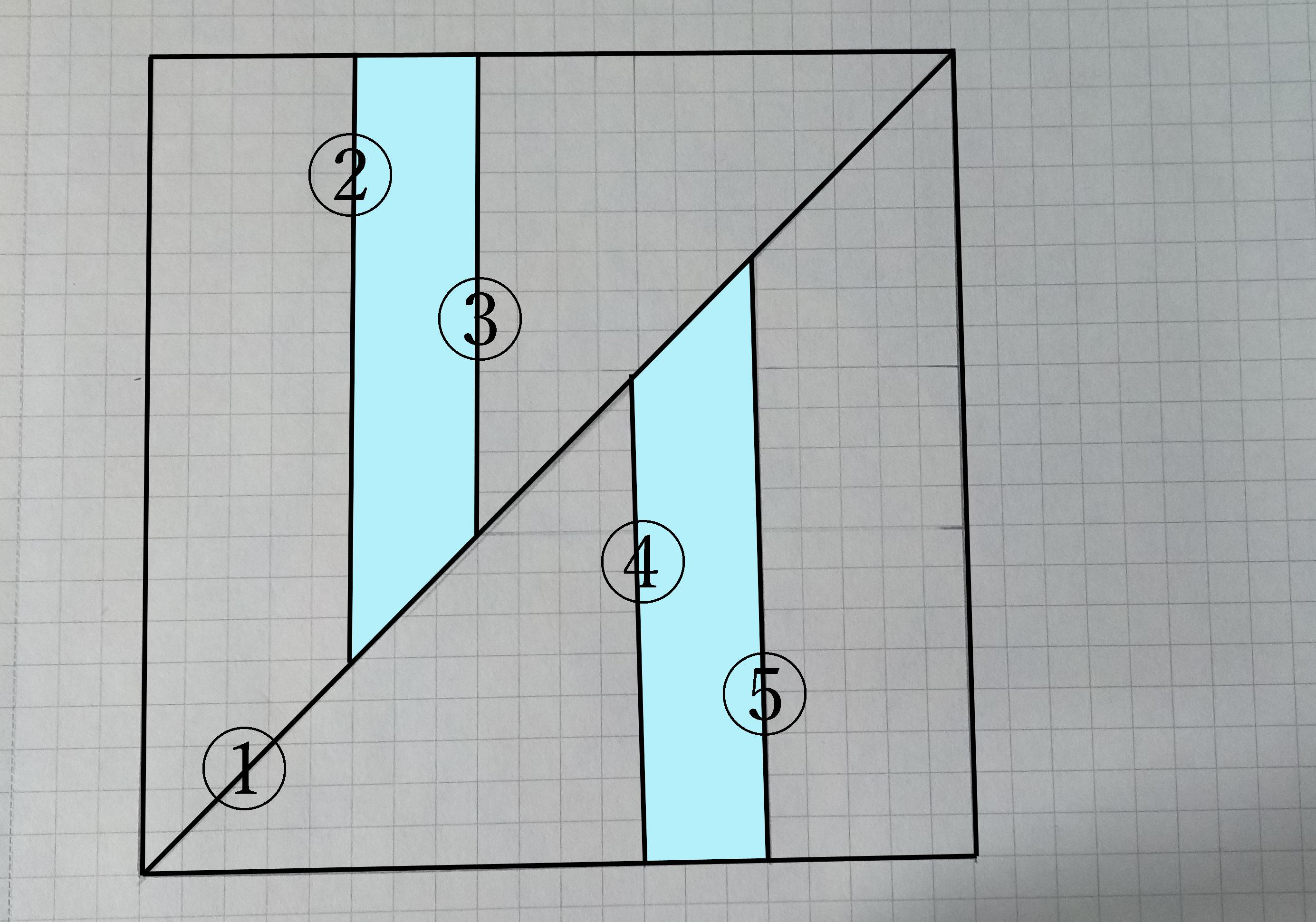 縞模様のステンドグラスパネル