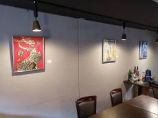 ビストロシェモモ展示吉田絵美作品