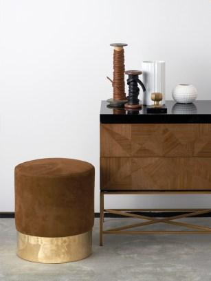 brass-stool