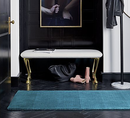 Ombre Teal Rug, CB2