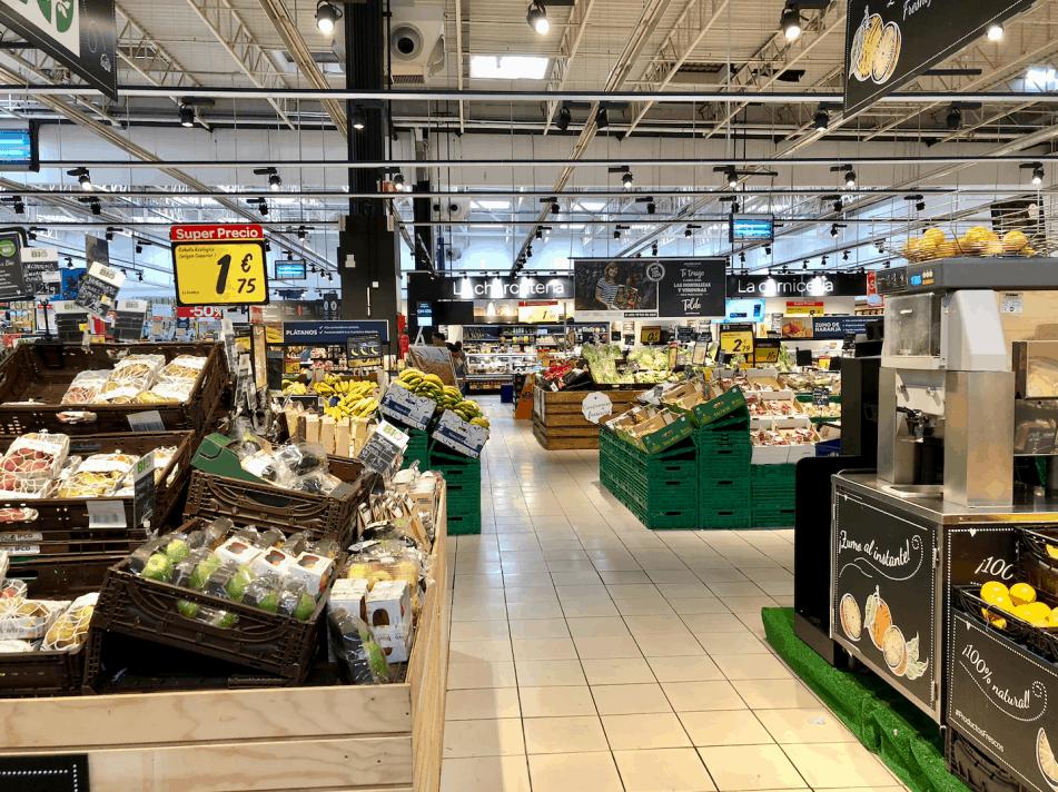 Emigreren Gran Canaria - De beste supermarkten in Gran Canaria - Vakantie tips - Carrefour Gran Canaria groente en fruit afdeling