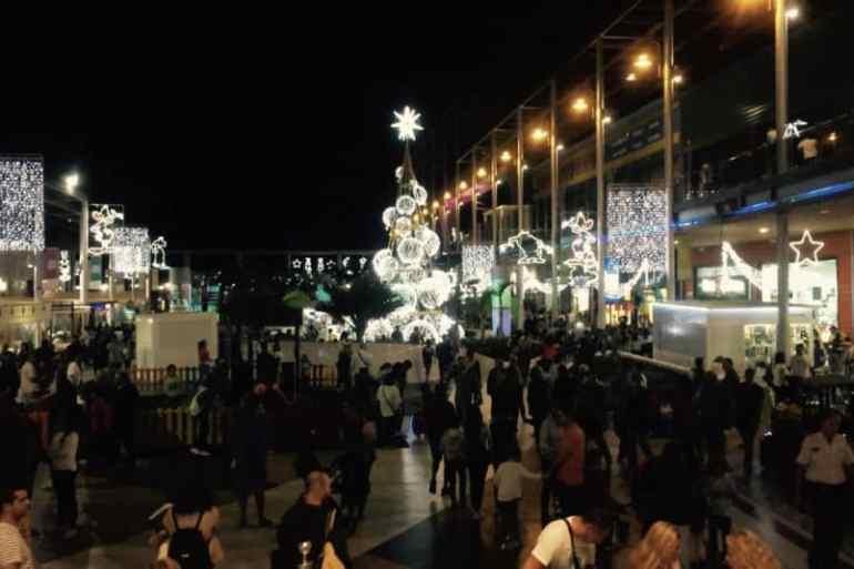 Emigreren Gran Canaria - Winkelcentrum Las Terrazas - Shoppen in kerstsfeer - Las Terrazas druk