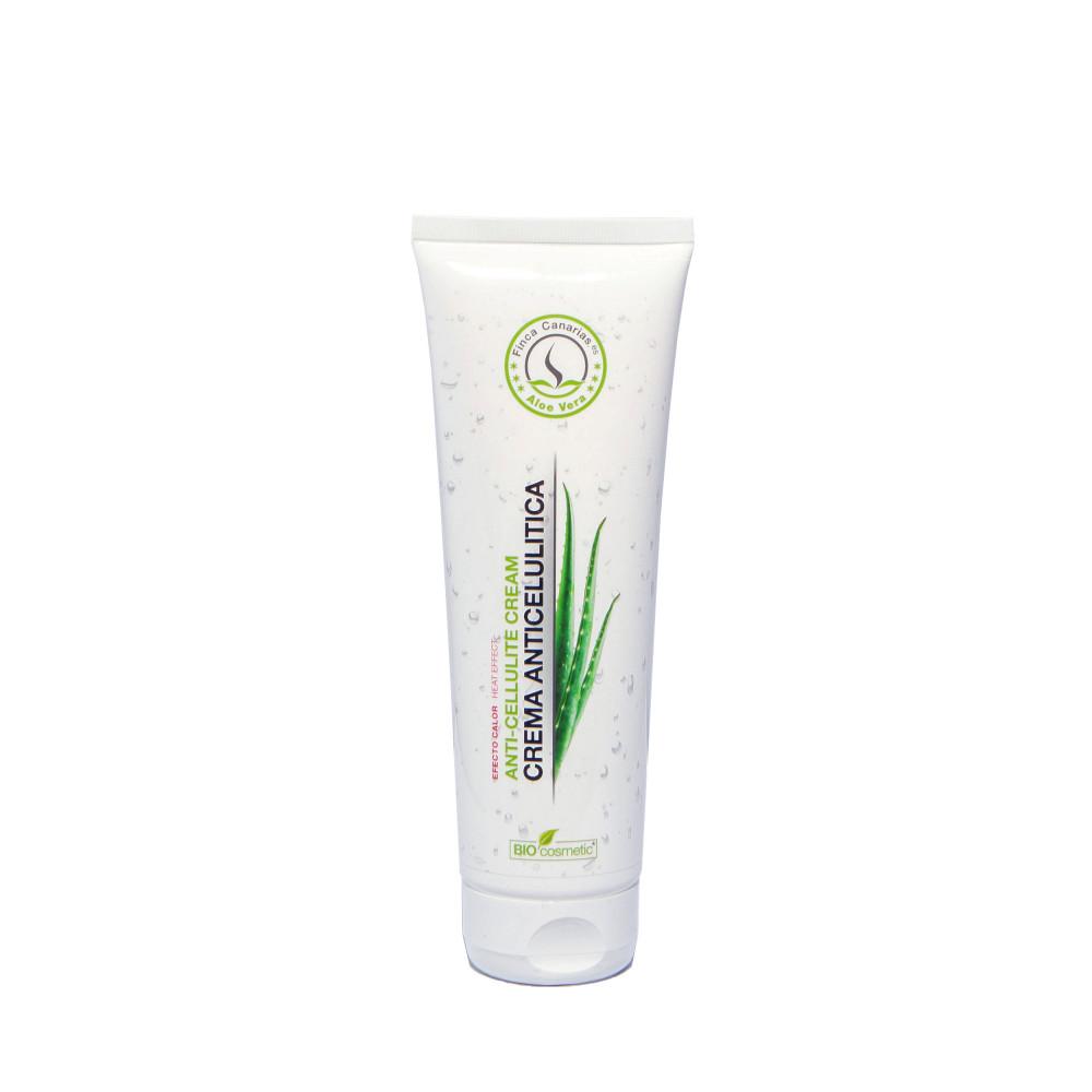 Aloe Vera Anti Cellulitis Crème met 30% Aloe Vera uit de Canarische Eilanden fles 250 ml