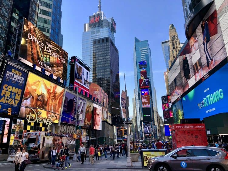 Emigreren Gran Canaria - Reisverslag - Hoogtepunten van New York – Amerika trip deel 1 - Times Square New York