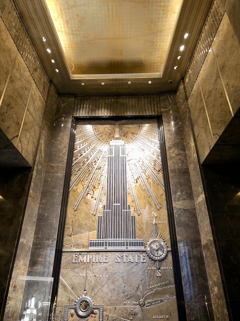 Emigreren Gran Canaria - Reisverslag - Hoogtepunten van NY - Amerika reis deel 4 - Hall Empire State Building