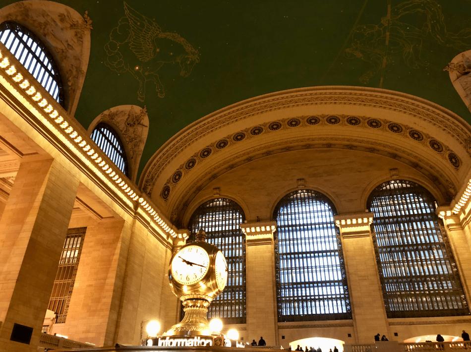 Emigreren Gran Canaria - Reisverslag - Hoogtepunten van NY - Amerika reis deel 4 - Plafond Grand Central Terminal NYC