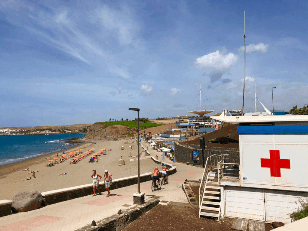 Strand van Playa de Meloneras op Gran Canaria