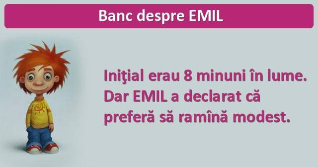 Banc despre Emil