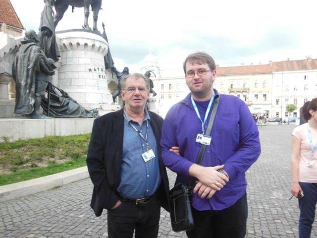 Poza cu maestrul Florin Zamfirescu a fost facuta in 2014, la TIFF