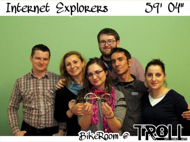 Escape Room cu biciclete Internet Explorers