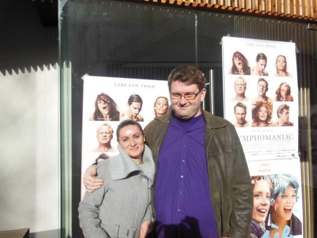 Alaturi de Monica, la vizionarea filmului Nymphomaniac, un film deloc ... ortodox :)
