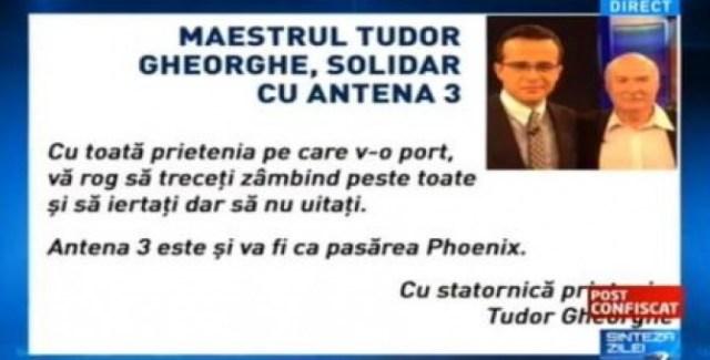 Tudor Gheorghe Antena 3