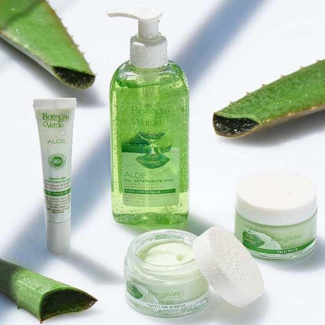 mirosuri crema hidratanta pentru ten aloe vera bottega verde