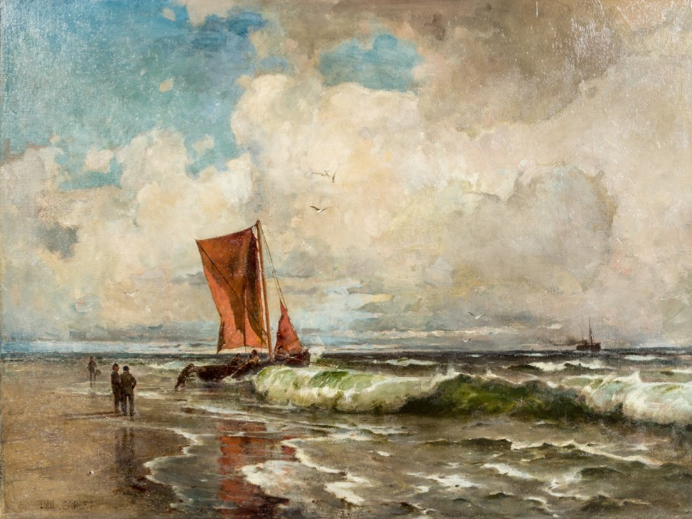 Emil Carlsen : Heading out to sea, 1881.