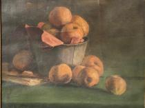 Emil Carlsen : Still life with fruit, ca.1883.