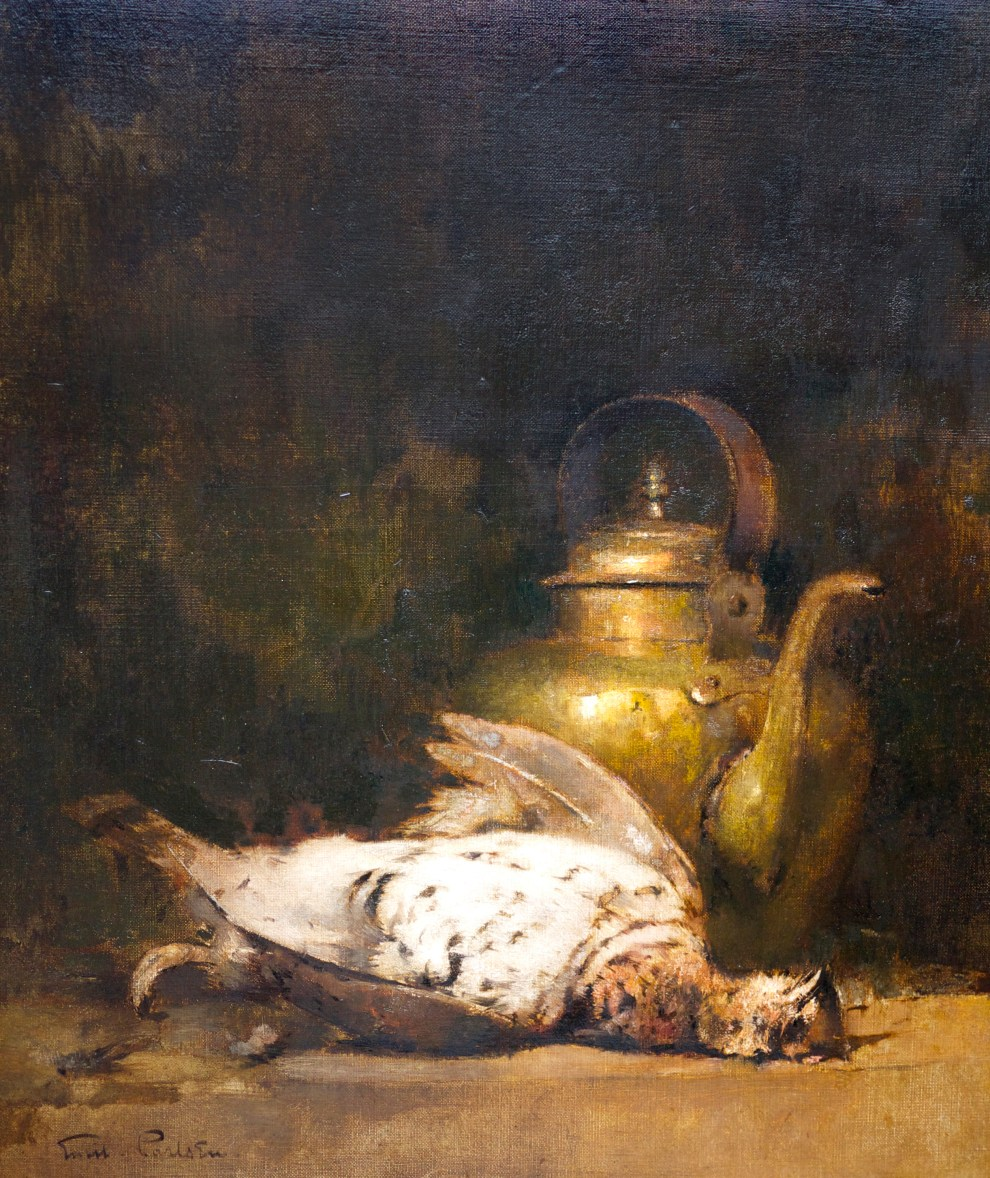 Emil Carlsen : Still life with ruffled grouse, ca.1897.