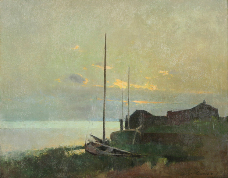 Emil Carlsen : Along the shore, Port Washington, CA, ca.1888.