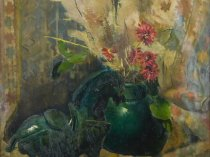 Emil Carlsen : Still life with horse, 1888.