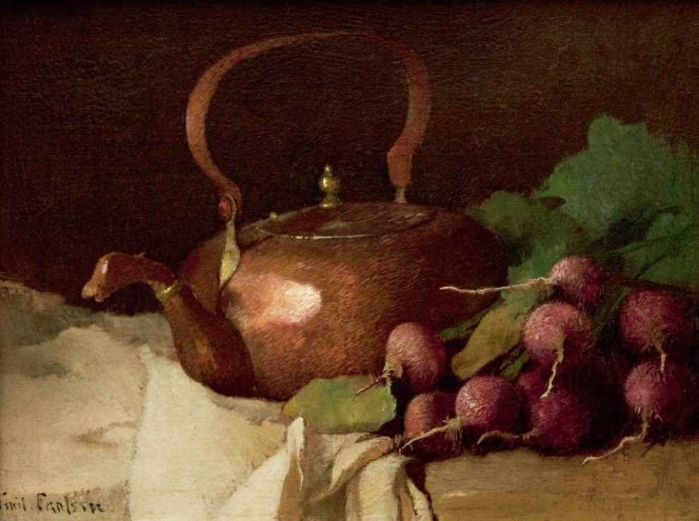 Emil Carlsen Still Life with Tea Kettle and Radishes, c.1915