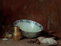 Emil Carlsen : Still life with brass urn and ducks, 1892.