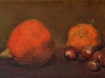 Emil Carlsen Still life with pumpkin, gourd and onions, ca.1866.