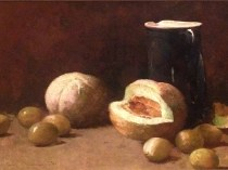 Emil Carlsen Still Life [Pitcher and Melons], 1893