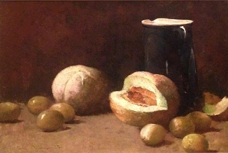 Emil Carlsen Still Life [Pitcher and Melons], 1893