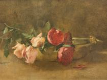 Emil Carlsen : Roses in a dish, 1893.