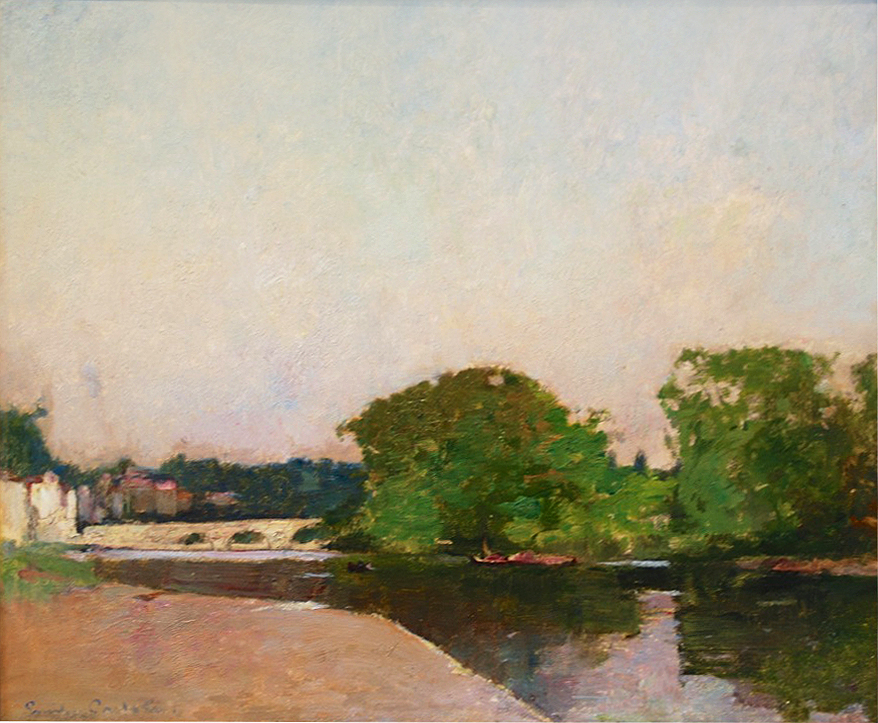 Emil Carlsen Richmond Bridge in Spring, [London], 1899