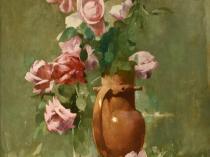 Emil Carlsen : Roses in urn, 1895.