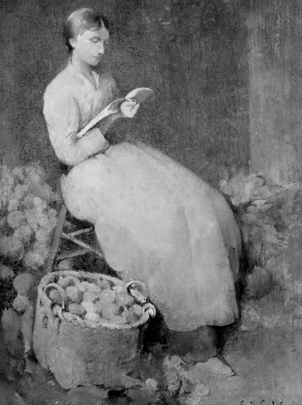 Emil Carlsen Girl Reading, ca.1897