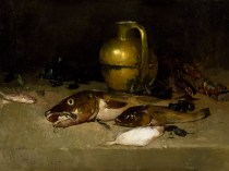 Emil Carlsen : Still life with fish, 1897.