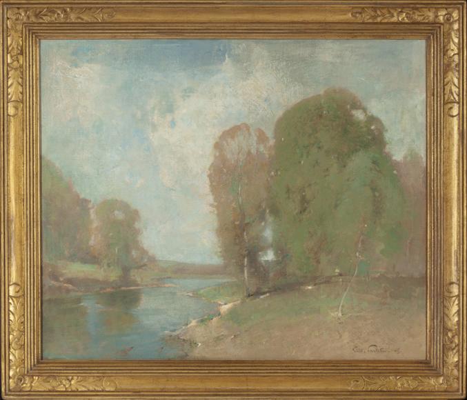 Emil Carlsen : Meadow brook, 1905.