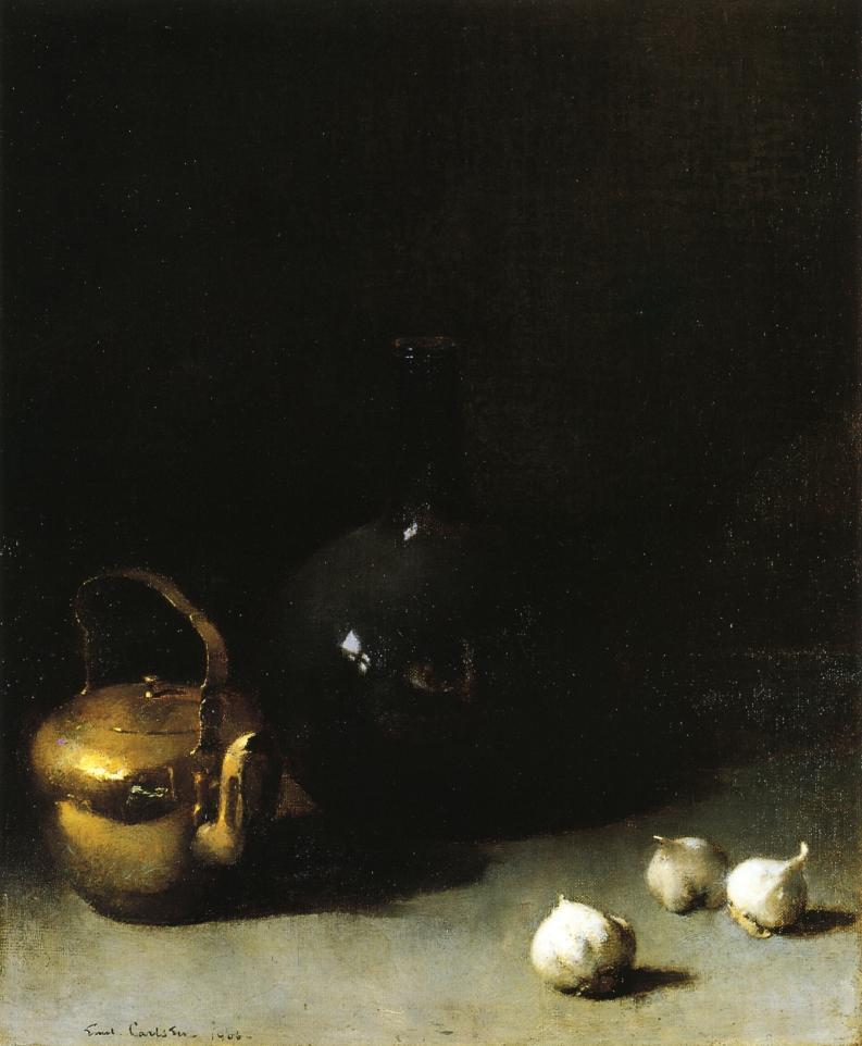 Emil Carlsen Still Life with Garlic 1906