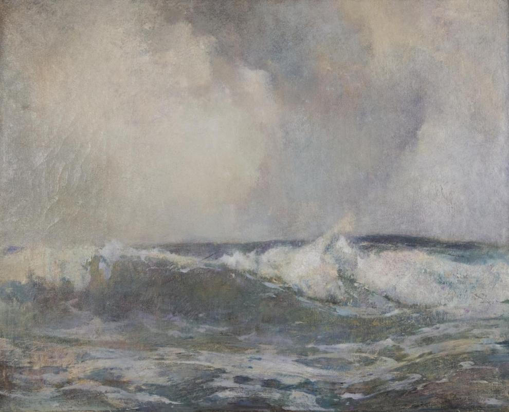 Emil Carlsen : Breakers, 1908.