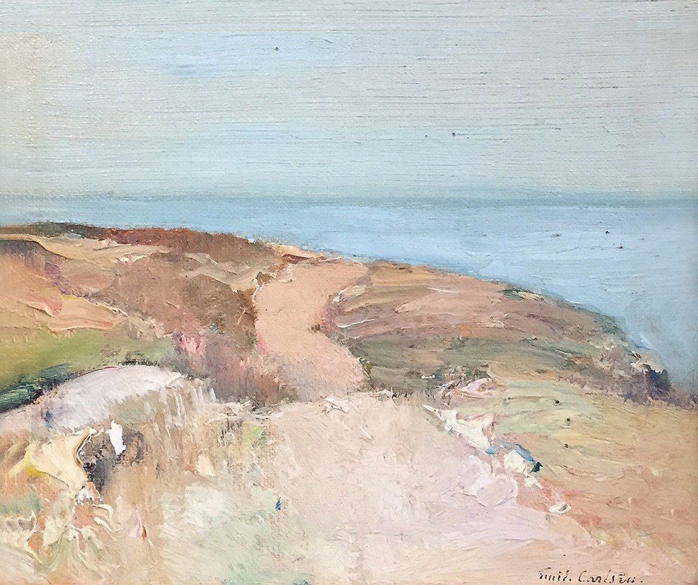 Emil Carlsen : Road on the headland, ca.1909.
