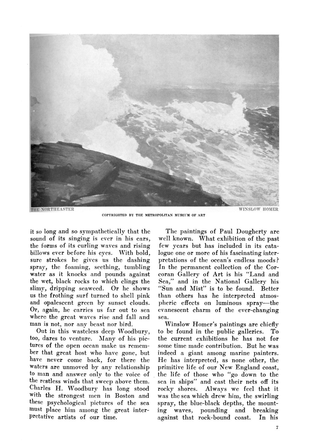 "Art and Progress, New York, NY, ""Some American Marine Painters"" by Anna Seaton-Schmidt, November, 1910, Volume 2, Number 1"