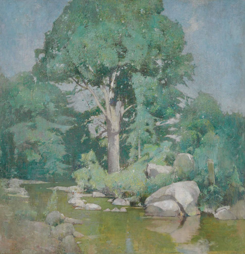 Emil Carlsen : Brook elm, ca.1910.