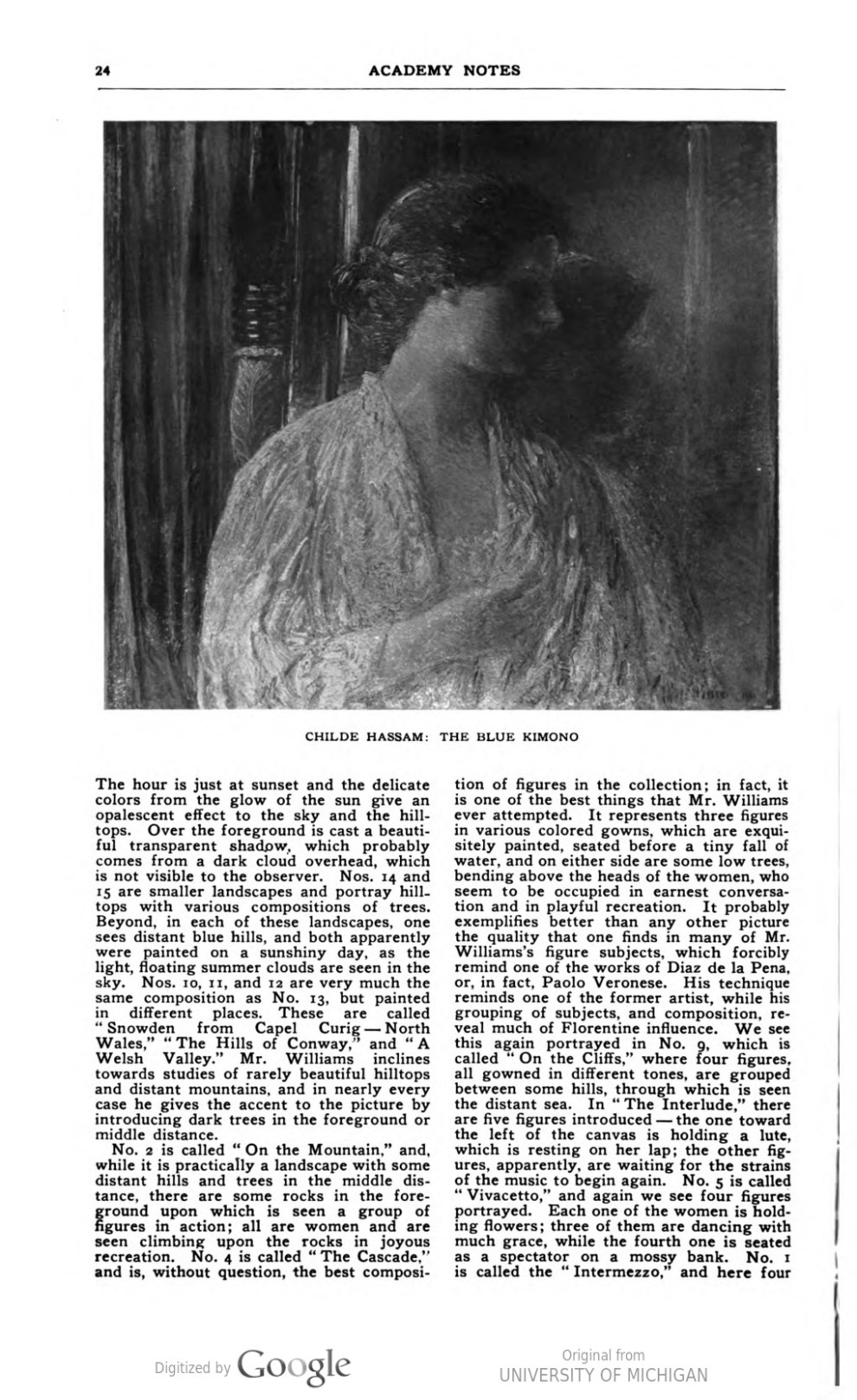 "Academy Notes, Buffalo Fine Arts Academy, Albright Art Gallery, Buffalo, NY, ""Exhibitions of Works by Emil Carlsen, Childe Hassam, and Frederick Ballard Williams"", April, 1910, Volume 5, Number 2, page 20-27, illustrated: b&w"