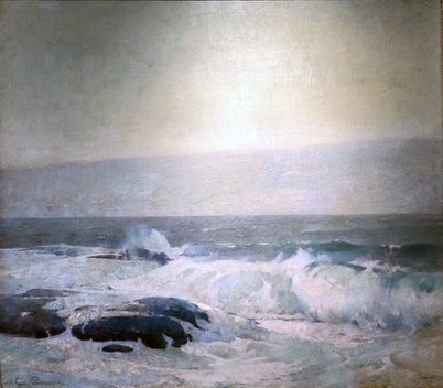 Emil Carlsen : Lifting of the fog bank, 1911.