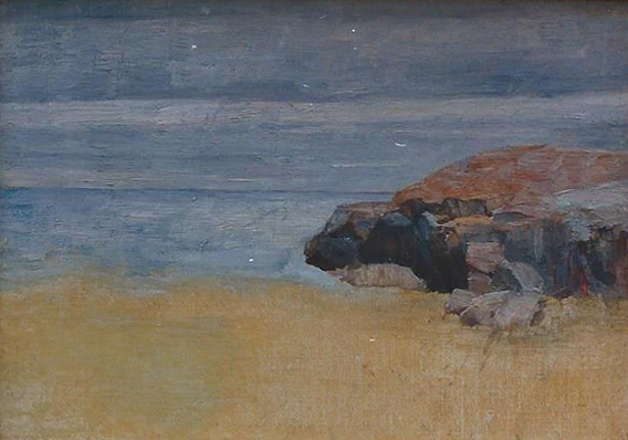 Emil Carlsen : Sand, rock and surf, ca.1911.