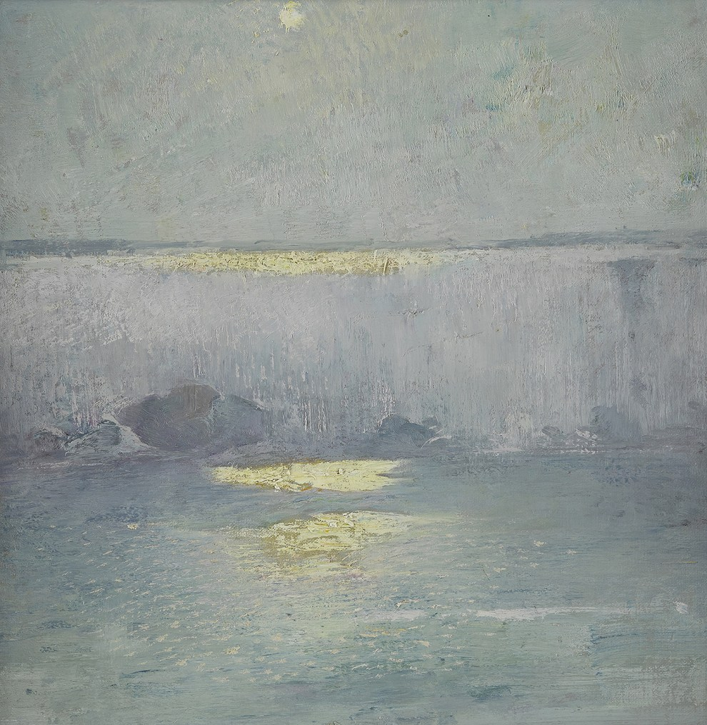 Emil Carlsen : Moonlight on Niagara, ca.1912.