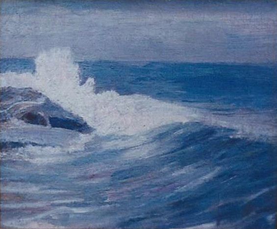 Emil Carlsen : Surf and rocks, ca.1912.